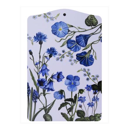 Skärbräda blå blom